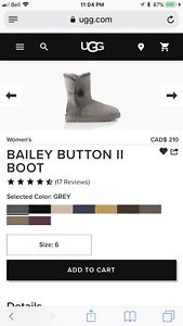 Size 6 bailey button Ugg's Brand New