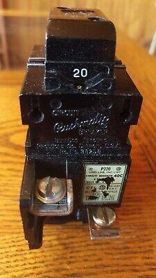 Pushmatic 20 Amp 2 Pole Circuit Breaker Bulldog Ite P220