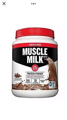 Muscle Milk Genuine Protein Powder, Chocolate, 32g Protein, 1.9 Lb Milk Protein Powder