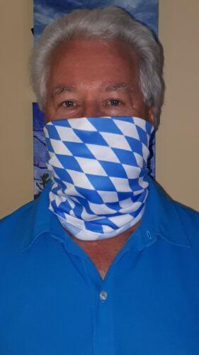 German Bavarian Rautenmuster Oktoberfest  Face Covering Gaiter NEW