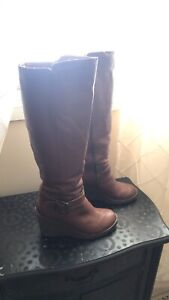b3b8dbf72bc Women s Aldo knee high leather boots with Sherpa lining