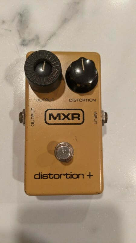 Vintage 1980 Block Logo MXR Distortion + Plus Pedal