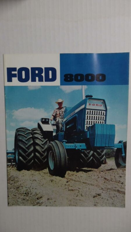 c.1968 FORD 8000 Tractor Catalog Brochure Vintage Original Near Mint VG+
