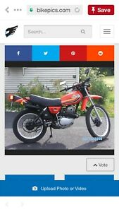 Wanted. 1978 Honda Xl250-350 enduro