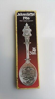 WMF Jahreslöffel ANNO DOMINI 1986 Schloss Linderhof limitierte Auflage.Zinn
