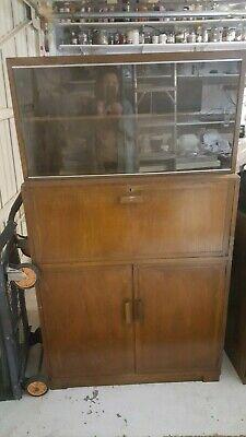 Antique Oak Bureau 1950s