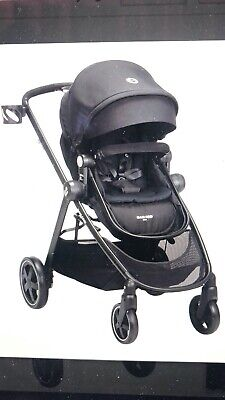 NEW! Zelia Stroller Self Standing Fold Extendable Canopy Night Black Maxi-Cosi