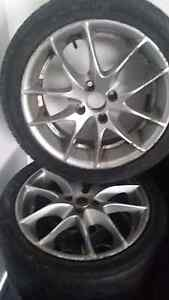 Alloy wheels 2 sets with tyers $120  $200 the lot Glenorchy Glenorchy Area Preview