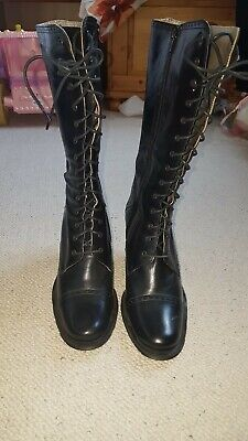 Kenneth Cole black full leather mid calf boots size 5UK/38EU/7mUS