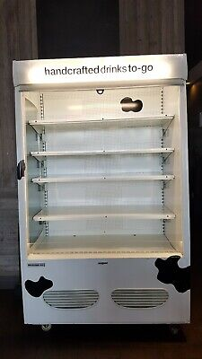 Large Refrigerator Open Air Merchandiser Grab Go Commercial Restaurant