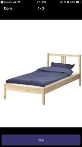 IKEA bed frame with SULTAN matress $100 - single bed