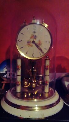 Used, Vintage torsion anniversary 400 day wind-up mechanical  clock under dome 30cm  for sale  Shipping to Ireland
