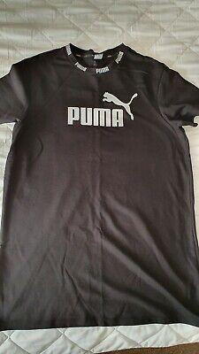 Ladies Black T-shirt Dress Size 14/16 XL Puma New