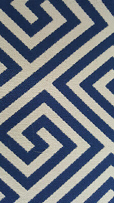 indoor outdoor perennials fabric, 100% acrylic, 3 yard piece, blue and white