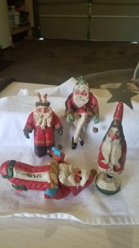 House Of Hatten Santa Ornaments