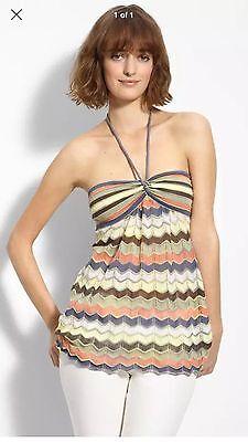M Missoni Chevron Knit Halter Dress Top I 40 US 4