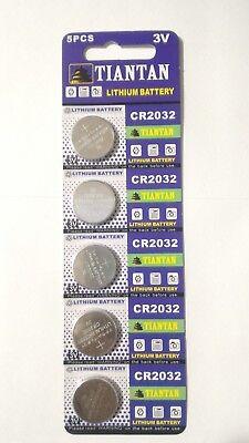 5 Pcs CR2032 3v Coin Cell Lithium Batteries 220mAh