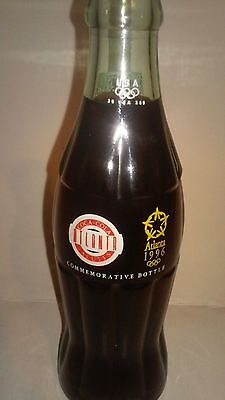 COCA COLA BOTTLE COMMEMORATIVE BOTTLE  ATLANTA SALUTES 1996 OLYMPICS 6.5 oz.