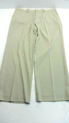 CLAIBORNE MENS TAN POLYESTER BLEND DRESS PANTS SIZE 38 X 30