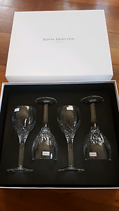 Royal Doulton Highclere Wine Glasses x 4 - BRAND NEW IN BOX Hunters Hill Hunters Hill Area Preview