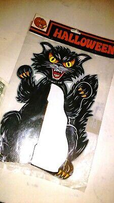 Vintage Halloween BLACK CAT Centerpiece. A brand new vintage decoration. Rare.