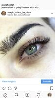 Eyelash extensions and lash lift and tint