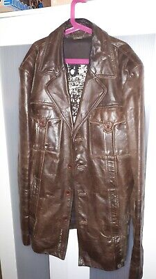 River Island Mens Tan Leather Jacket
