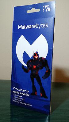 Malwarebytes Premium Anti Malware Exploit Ransomware 1 Pc 1 Year  Brand New