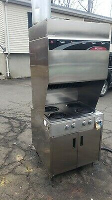 Wells Commercial Hoodless Electric Stove Wansel System