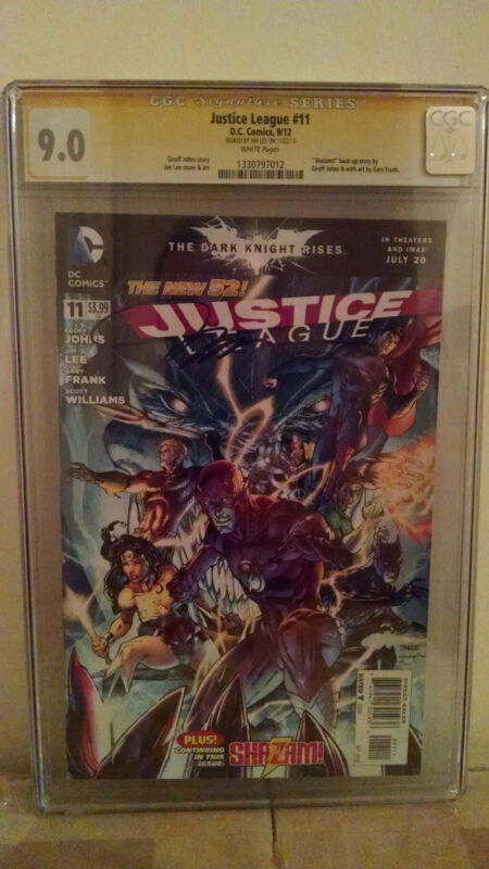 Justice League #11 CGC 9.0 Jim Lee Signed