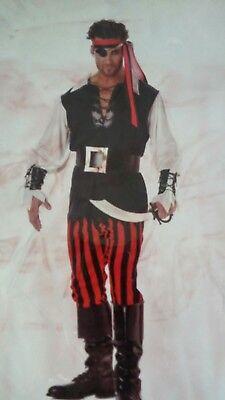 Cutthroat Pirate Adult Costume California Costumes Size Large  #01318 - Pirate Costume Men