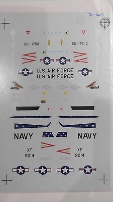 1/72 SUPERSCALE DECALS: T-33s ''VX-4 PT MUGU OREGON ANG RED HAWKS 2ND FW''