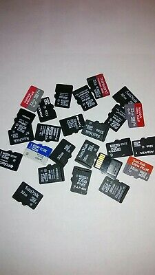 Lot of 20pc Sandisk & other 32gb micro SDHC MEMORY CARD for cell,cameras, & more Gigabyte Pc Card Memory