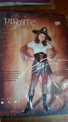 Pirate Girl Dress Up (Buccaneer Pirate Girls Child Dress Costume -- Dress Up -- Halloween -- Size)