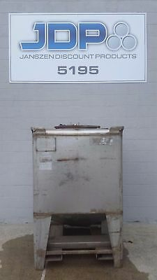Used Stainless Steel Tote 360 Gallon Ibc Tank Listed Low To Move Fast Sku 32
