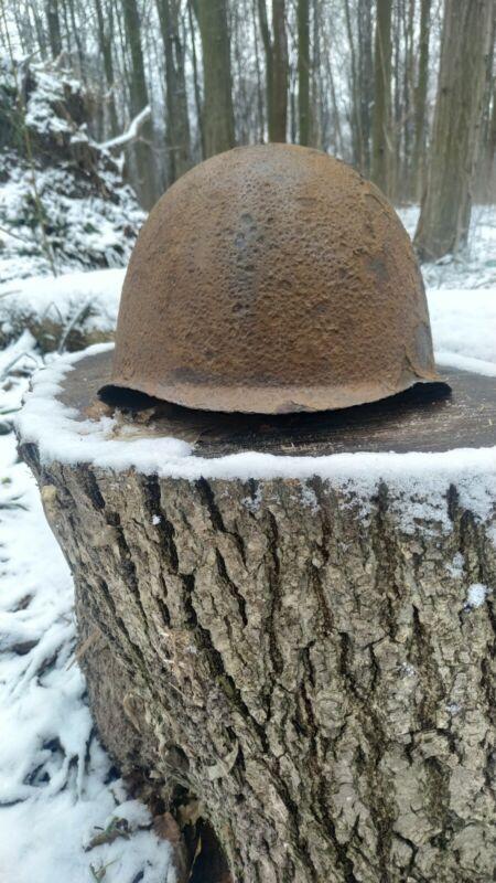 Helmet Steel SSh 39 WWII Original Military Soviet Army RKKA WW2 Battle helmet