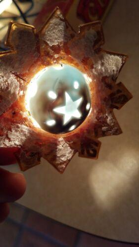Vintage Christmas Tree Light Bulb Snowflake Tested Works