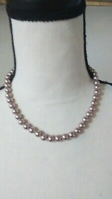 Perfectly Round 11-12mm Stunning Light Purple/Pink Shell Pearl 18' Necklace Purple Shell Pearl Necklace