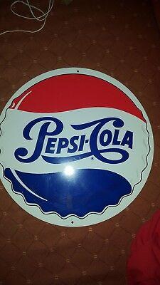Pepsi Cola Schild Reklame Werbung 40cm Durchmesser