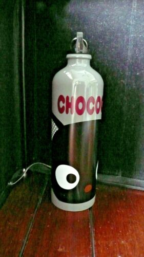 SANRIO CHOCOCAT METAL WATER BOTTLE WITH CLIP ~ 2011