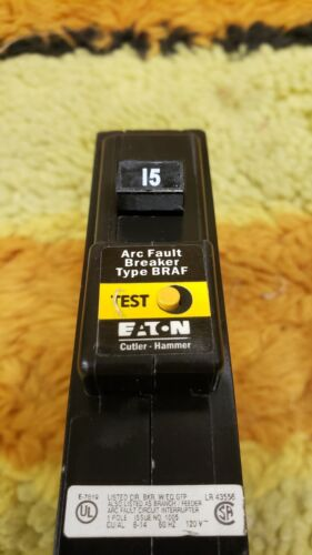 Eaton Arc Fault Breaker BR115AF 15A 120VAC - open box