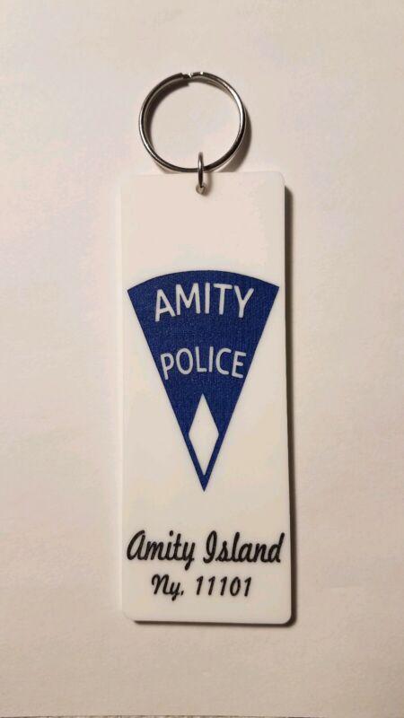 Amity Police Beach Closed Amity Island Jaws inspired keychain key chain