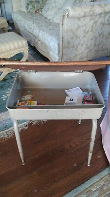 1900-1950 Vintage Child's School Desk Formica