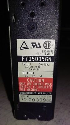 Shindengen Fy05005gn Power Supply 100-240vac In 5vdc 5a Out