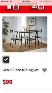 Geo 5 Piece Dining Set - LIKE NEW - Fantastic Furniture.