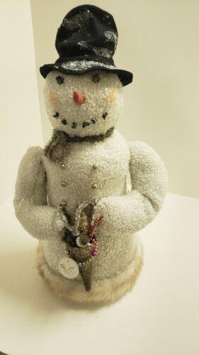 """KD Vintage Style Spun Cotton Snowman-27"""" New"""