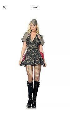 Damen Kostüm Sexy Kadettin Uniform Armee Offizier Größe S