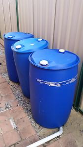 3x blue plastic drums Ballajura Swan Area Preview
