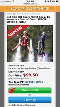 Jet pack or board flight for 2! Killarney Vale Wyong Area Preview