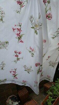 Vintage  floral Sanderson  curtains pair each W 65 inch L 53 inch